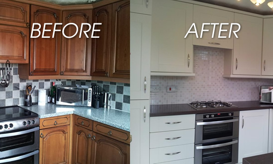 replacing kitchen cabinet doors before and after replacement kitchen doors still on gordon s 25482