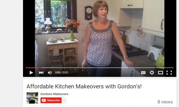 NEW YOUTUBE VIDEO! Affordable Kitchen Makeovers with Gordon's!