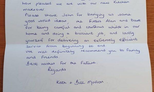 Mr and Mrs Morton's Testimonial!